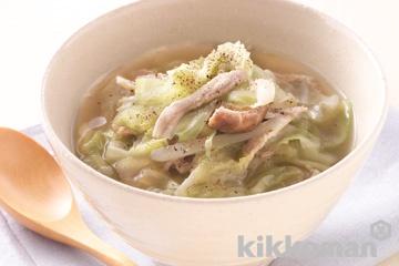 キャベツたっぷりスープ