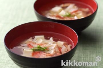 豆腐とかにのとろみ汁
