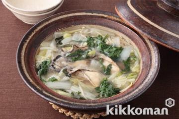 冬野菜とかきのとろみ鍋