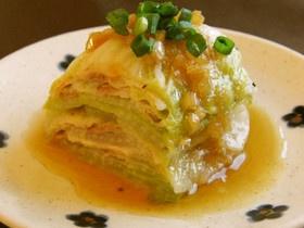 レンジで簡単♪白菜と豚バラミルフィーユ