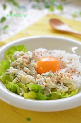 お豆腐そぼろに卵とろ~り♪健康朝ごはん☆