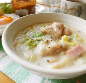 簡単*白菜と鶏もも肉のクリーム煮