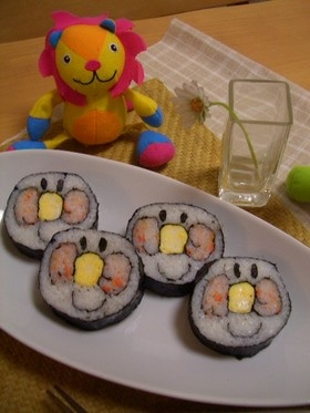 にっこりアンパンマン巻き寿司♪節分に♪