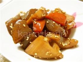 ヘルシー*こんにゃくと根菜の煮物