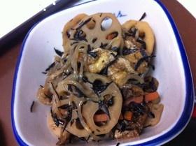 芽ひじきとレンコンと糸こんにゃくの炒め煮