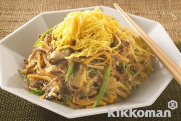 チャプチェ(春雨と牛肉の炒め)