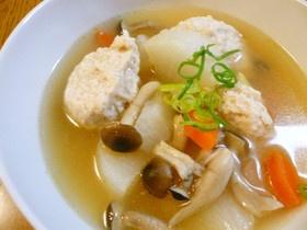 ふわふわ鶏団子と大根の中華スープ