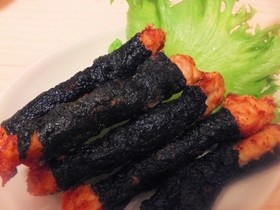 ♡鶏肉の海苔唐揚げ(鶏ささみ)お弁当にも