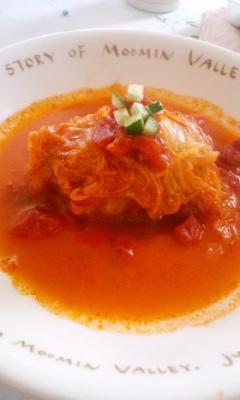 トマトスープが美味しい我が家のロール白菜