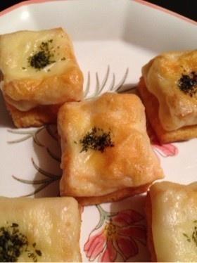 簡単おつまみ(^.^)厚揚げチーズ