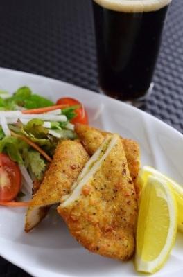 鶏ささみのカレー&バジル風味サンドカツ