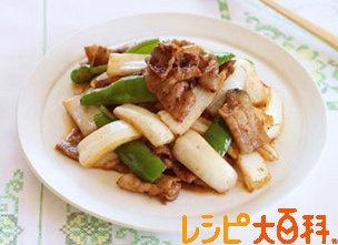白菜と豚肉の甘辛みそ炒め