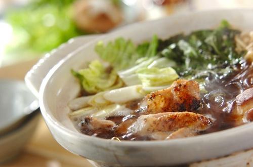 炙り鶏ちり鍋