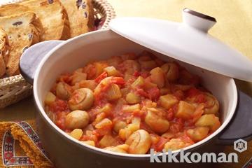 マッシュルームと野菜のトマト煮込み