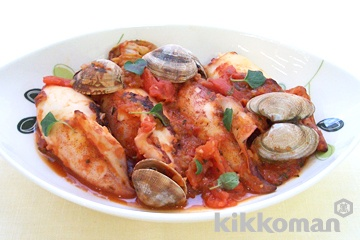 やりいかのトマトソース煮イタリア風
