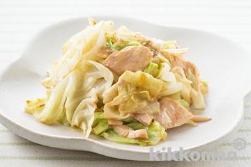 キャベツツナマヨ炒め