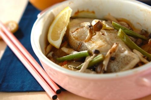 白菜と魚の蒸し焼き