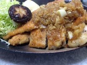 ガッツリヘルシー、鶏胸肉の生姜焼き