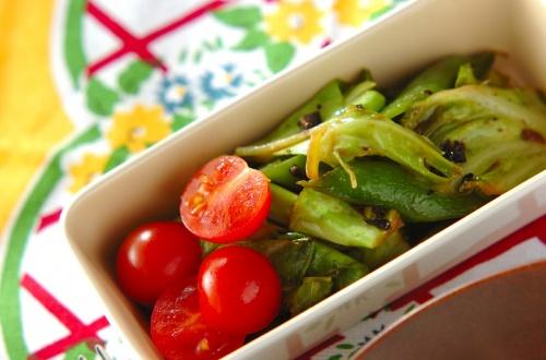 春キャベツのアンチョビサラダ