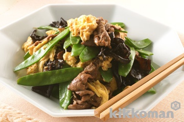 牛肉とさやえんどうの炒め物