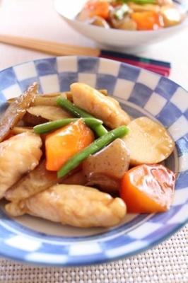 とろ~りあんのささ身と根菜の煮物