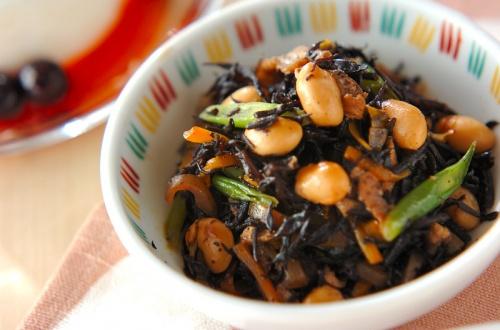 大豆と芽ヒジキの煮物