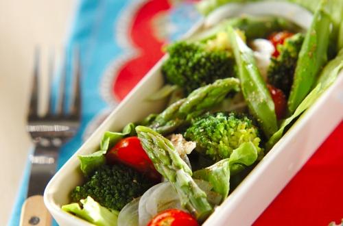 アスパラのグリーンサラダ