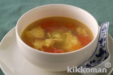 トマトと焼き卵のスープ