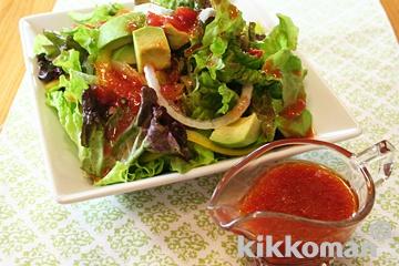 トマトドレッシングのサラダ
