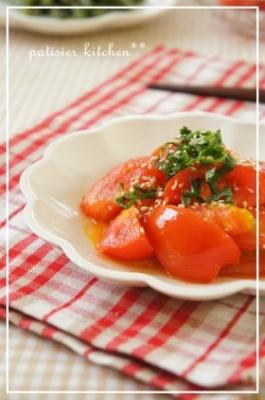 トマトの生姜風味中華炒め