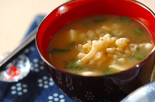 豆腐と大葉の合わせみそ汁