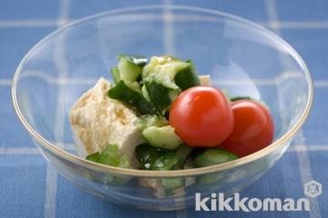 きゅうりと豆腐のぽん酢サラダ