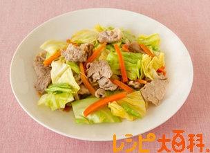 豚肉とキャベツの簡単和風炒め