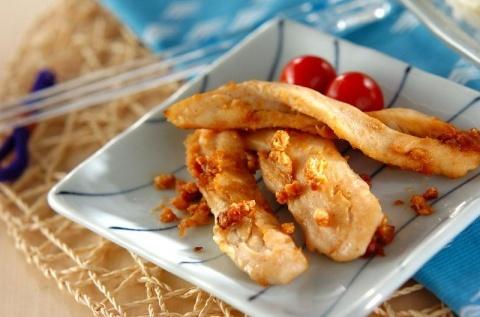 鶏ささ身のピーナッツ焼き