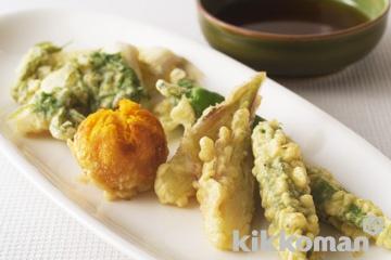 きすと夏野菜の天ぷら盛り合わせ
