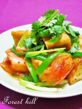 ベトナム家庭料理☆厚揚げとトマトの炒め物