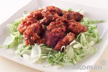 揚げ鶏のケチャップ煮