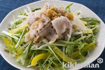 ゆで豚のピリ辛サラダ
