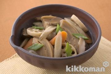 麩と根菜の和風煮物