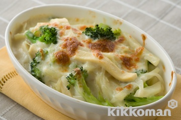 高野豆腐とハムの豆乳グラタン