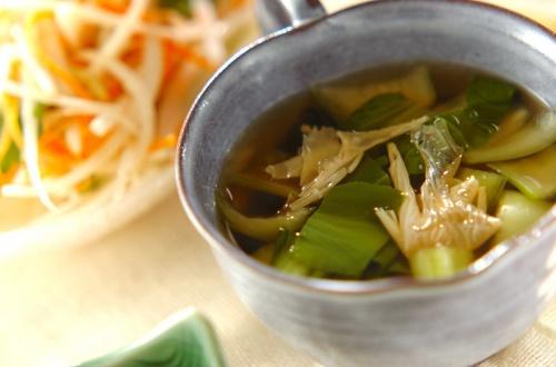 青菜と湯葉のお吸い物