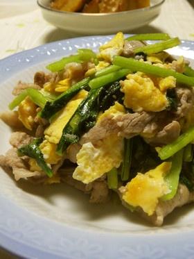 豚肉と小松菜の中華風炒めです