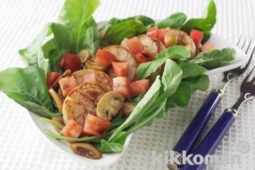 ルッコラと帆立の温サラダ