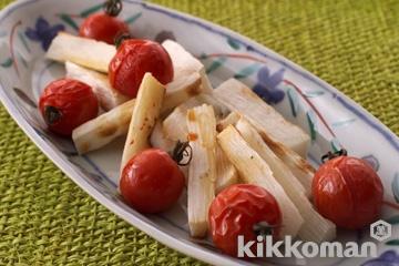 焼き長いもとトマトのしょうゆがけ
