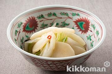 白菜とかぶの和え物