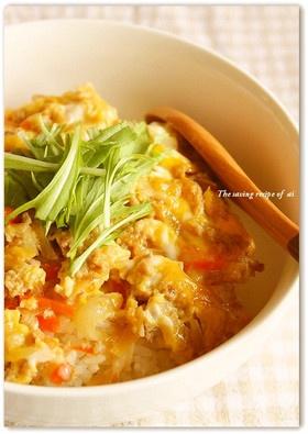 節約レシピ!親子丼みたいなひき肉卵とじ丼