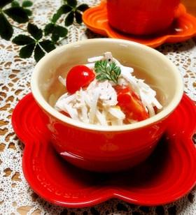 簡単過ぎる☆ツナとトマトの大根サラダ