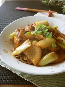 豚バラ大根と葱☆生姜甘辛味噌炒め
