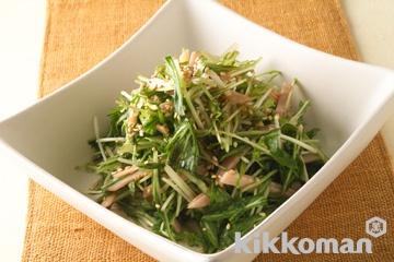 ハムと水菜のサラダ