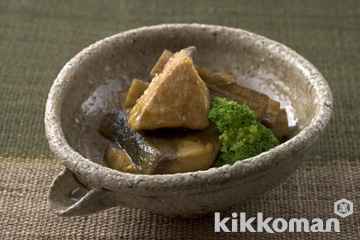 ぶりとごぼうの煮物 カレー風味